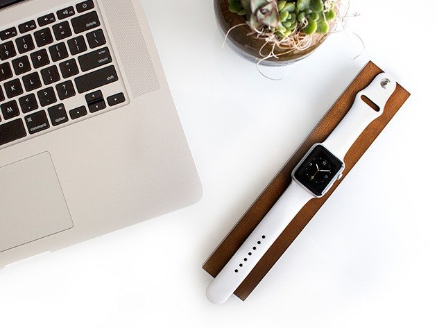 OVA Wood Apple Watch Charging Dock