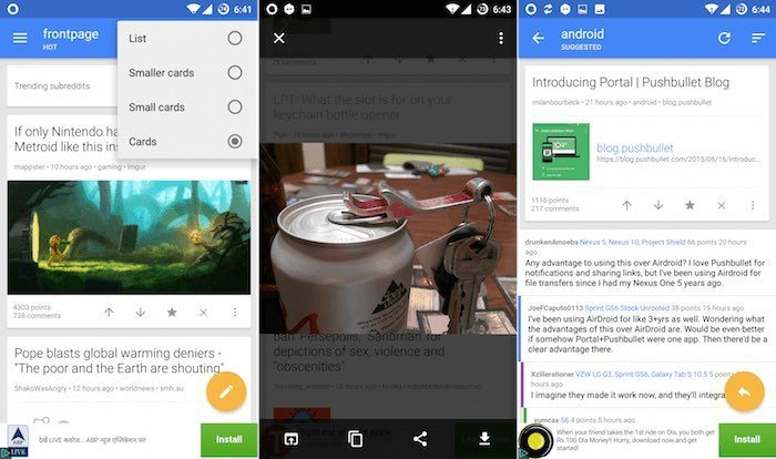 Top 5 Reddit Clients for Android - Make Tech Easier