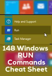 Windows Run Commands Cheat Sheet