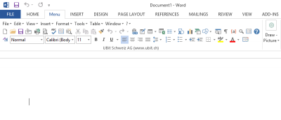 How to Restore Ribbon UI to the Classic Layout for Microsoft Office