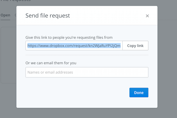 dropbox-request-share