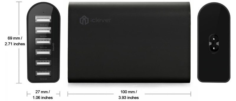 iClever 6-Port USB Travel Wall Charger Review