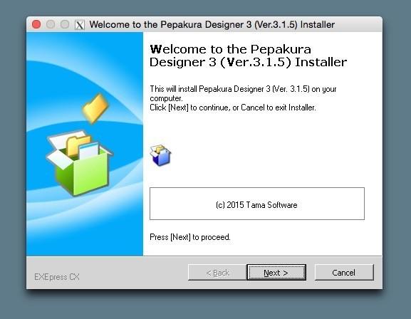 pepakura-welcome-to-installer