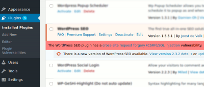 Receive Email Notification of Security Vulnerabilities in WordPress Plugins
