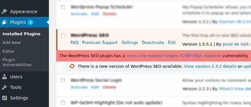Get Email Alerts of Security Vulnerabilities in WordPress Plugin