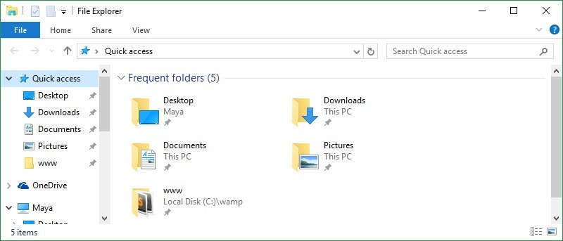 How to Remove Quick Access from Windows 10 File Explorer