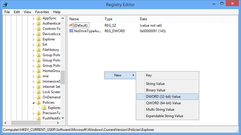 windows-autoplay-new-dword-value