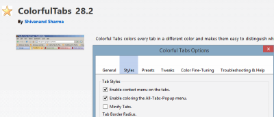 Add Coloured Tabs to the Firefox Interface