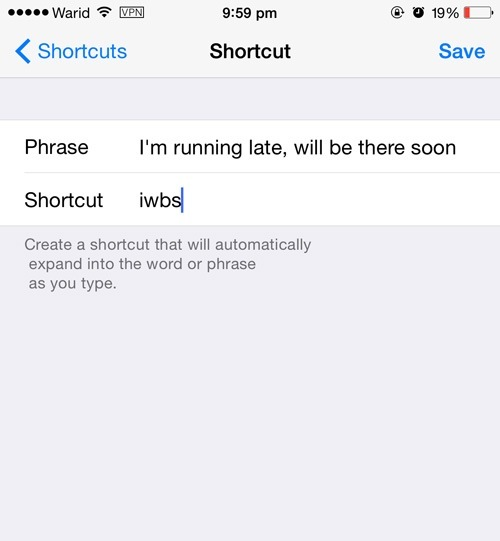 Shortcuts-Enter