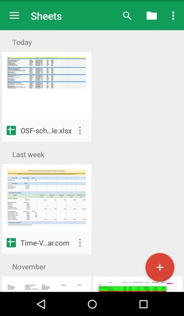 android-office-sheets