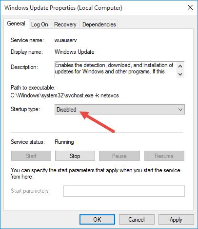 windows 10 pro how to stop automatic updates
