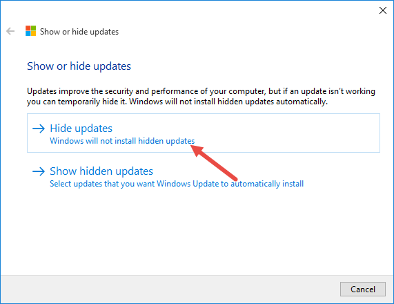 disable-windows-updates-select-hide-updates