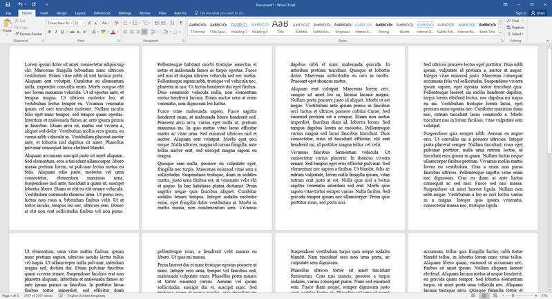 Display One Page at a Time in Microsoft Word
