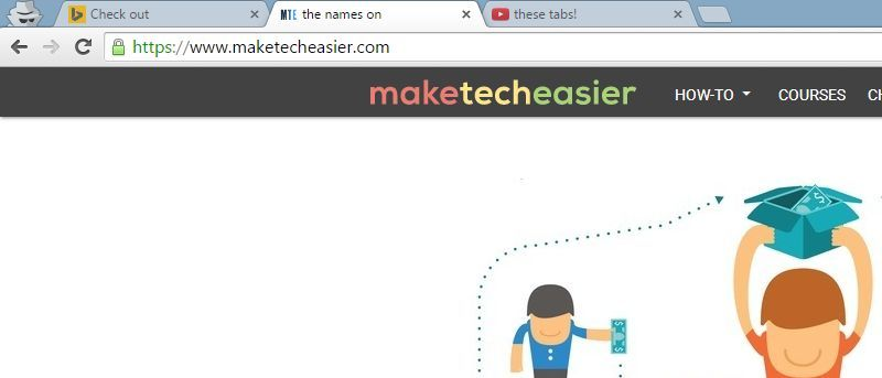 Edit Tabs in Chrome and its Related Browsers