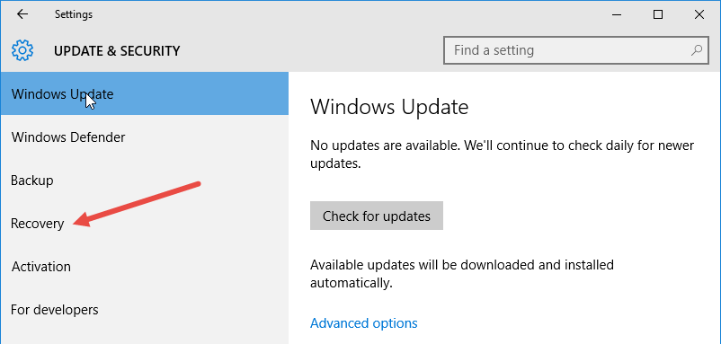 how to go to earlier version of windowsa