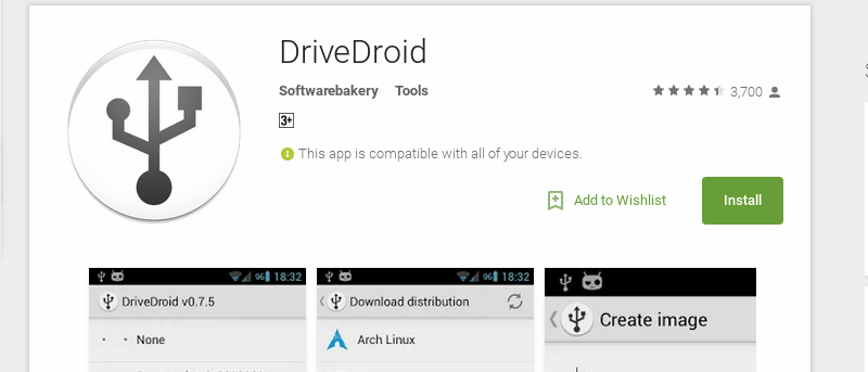 Use DriveDroid to Install Any Linux Distro from Android [Root required]