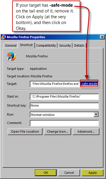 firefox-stuck-in-safe-mode-remove-safemode-from-target-path