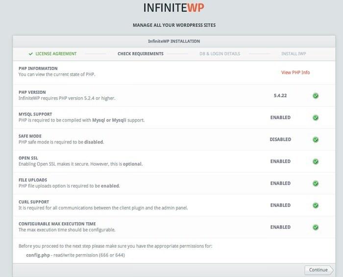 manage-multiple-wordpress-sites-infinitewp-requirementsystem