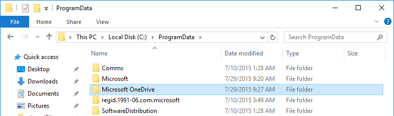 uninstall-onedrive-folder-in-programdata