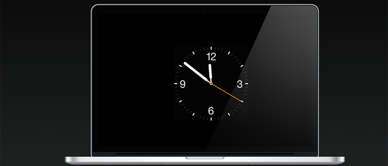 Set the Apple Watch Clock Face as the Screen Saver on Your Mac