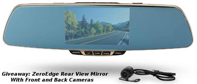 ZeroEdge Rear-View Mirror With Dual-Lens Car Camera Review