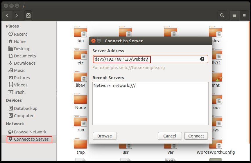 Apache_webdav_connect_server