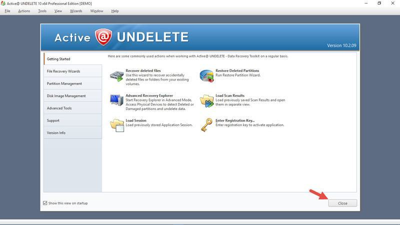active-undelete-welcome-screen