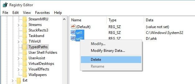Delete-file-explorer-address-bar-history-delete-nhiều địa chỉ-bar-url