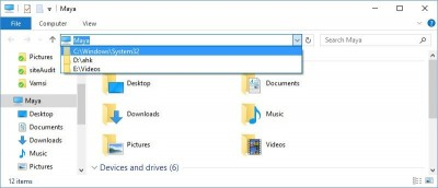 How to Delete File Explorer Address Bar History in Windows