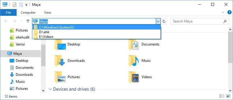 How to Delete Windows Explorer Address Bar History in Windows