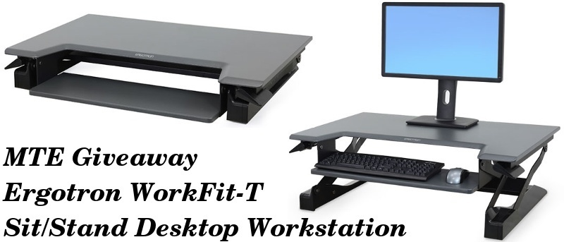 Ergotron WorkFit-T Sit/Stand Desktop Workstation - Review and Giveaway