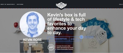 Kevin Rose Quarterly Box Featuring Bluetooth Smart Bulb and PowerCube