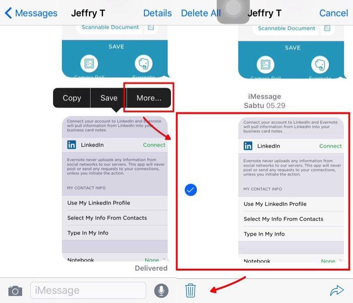 Delete images iOS Message -mte- 01 - Delete One