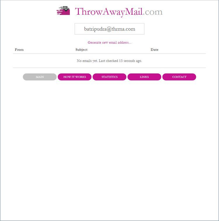 Disposable Email Addresses - ThrowawayMail