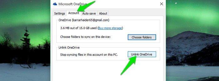 OneDrive-unlink-OneDrive