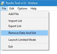 RunAsTool-remove-data