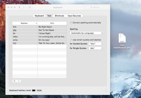 Text-Shortcuts-Mac-plist