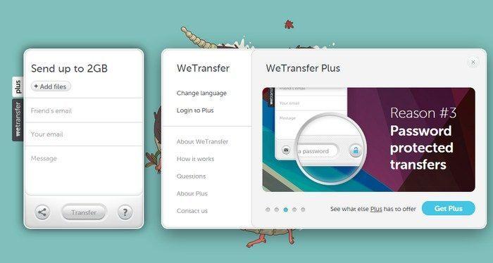 Share Large Files Website - WeTransfer