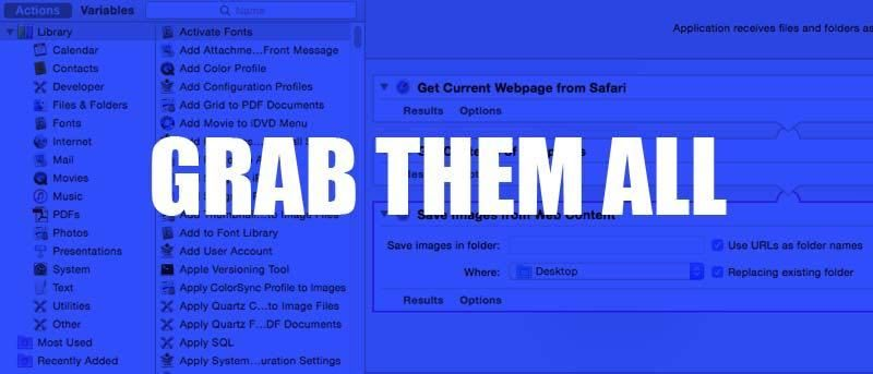 Download All Images From Web Pages in Safari