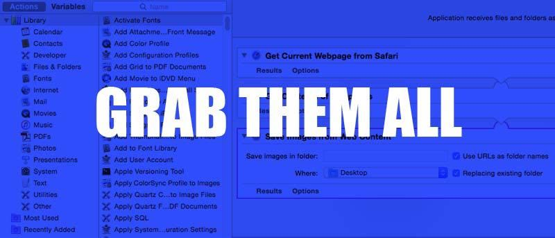 Easily Download All Images from Web Pages in Safari with Automator