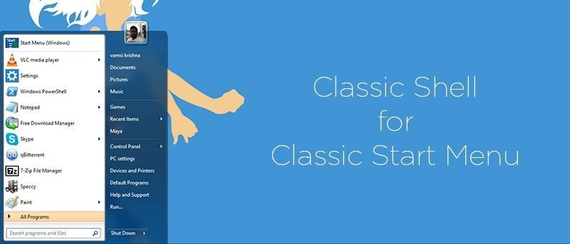 Classic Shell - A Simple Application for No Nonsense Start Menu