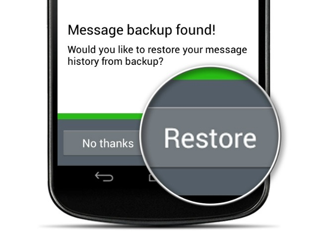 Backup WhatsApp Restore Conversations