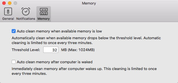 Dr. Cleaner -mte- Preferences Memory