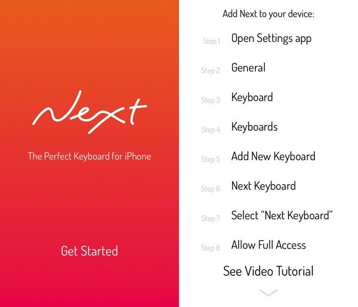 Next iOS Keyboard -mte- 01 - Start