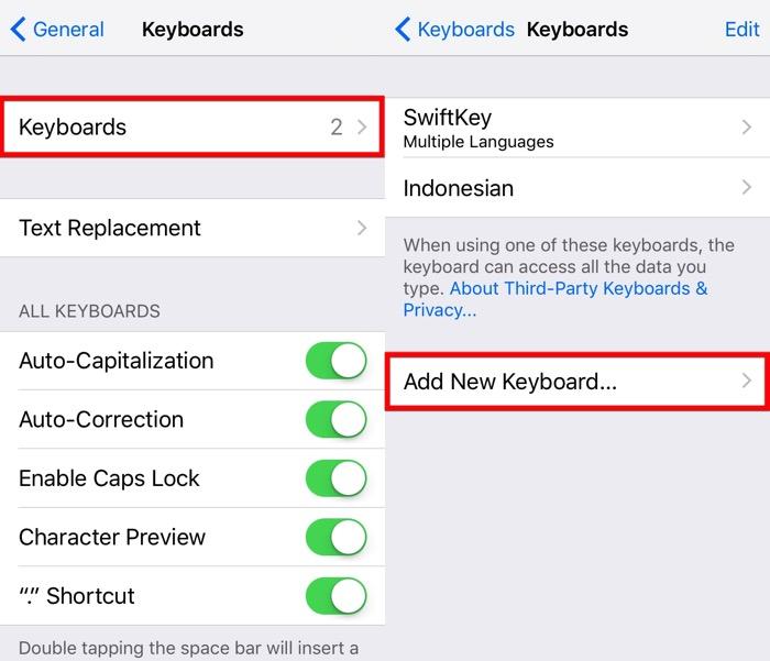 Next iOS Keyboard -mte- 03 - Add Keyboard