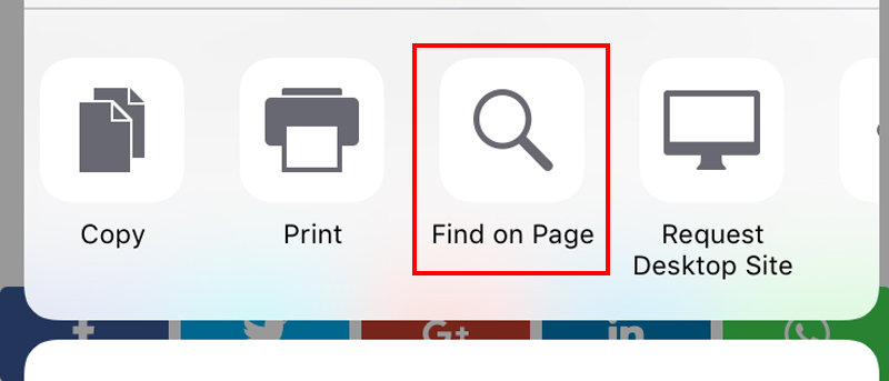 Find A Word on a Web Page Using 'Find on Page' in Safari for iOS 9