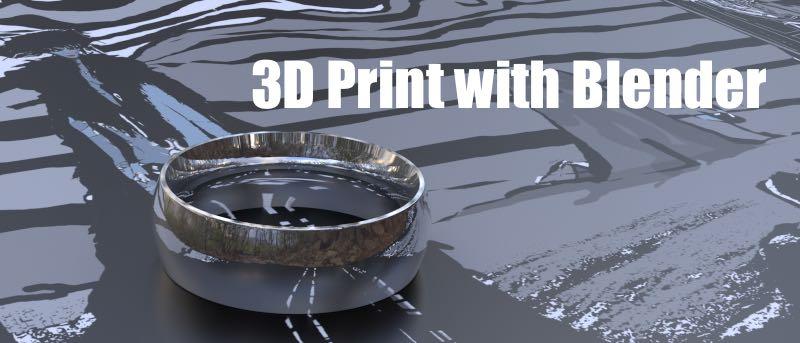 Building a Custom Ring in Blender for 3D Printing