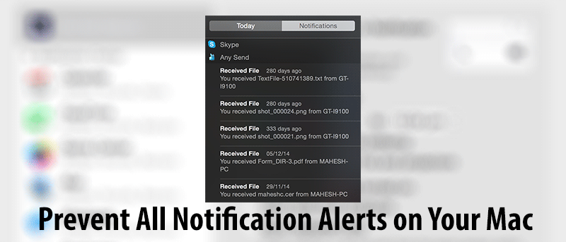 How to Prevent All the Alerts from the Notification Bar on Your Mac