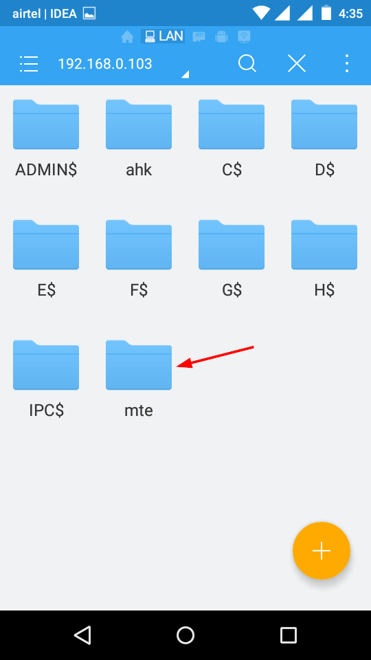 share-windows-folders-android-shared-folder