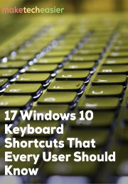 17 Windows 10 Keyboard Shortcuts Cheat Sheet